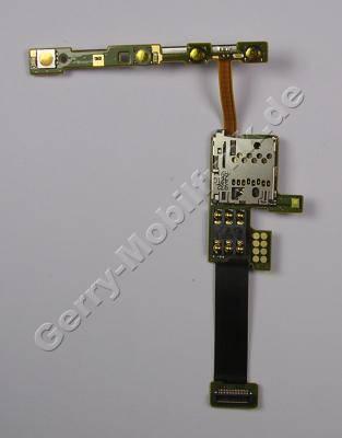 Simflex Nokia E66 original Sim Flex Modul, Simkartenleser mit Seitenschaltern, Lautstärkeschalter, Speicherkartenleser, LED Blitz