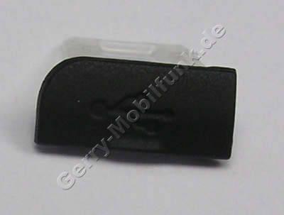 USB Abdeckung schwarz Nokia 6600i slide original Abdeckung USB Anschluß black