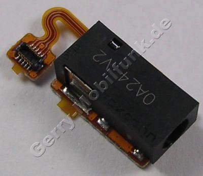 Headset Konnektor Nokia C7-00s Oro original AV Flex, Anschlußbuchse Headset mit Flexkabel