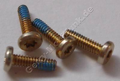 4 Stück Schrauben 1,4x5,0mm gold Nokia C7-00s Oro Schraubenset Torx TX4 plus