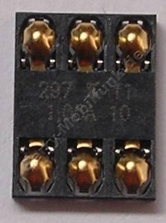 Simkartenleser Nokia 6120 Classic original Konnektor Simkarte 6 polig, Lötbauteil