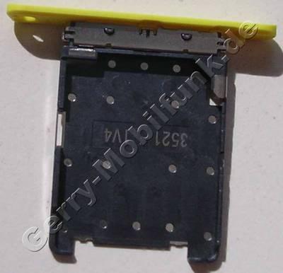 Simkartenhalter gelb Nokia Lumia 720 original Halter der Micro Simkarte yellow