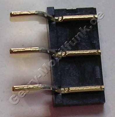 Batterie Konnektor Nokia Lumia 638 original CONN BATT EDGE ANGLE P3.7, Anschlußbuchse vom Flexkabel des Akku