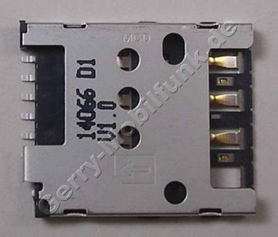 Simkartenleser, SMD Sim-Konnektor Nokia Lumia 636 original CONN Mini UICC SIM SM 6POL Zenith II
